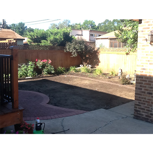 Artificial turf project - Backyard